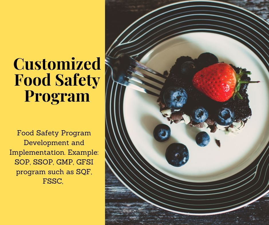 Customized food safety program