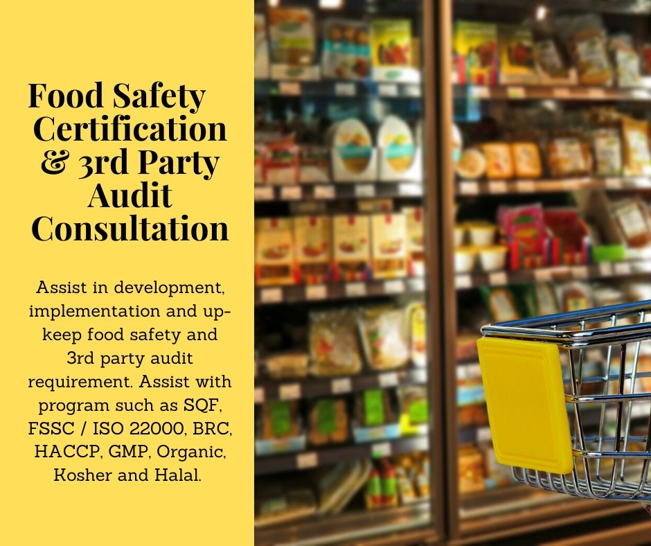 Food Safety Certification and 3rd Party Audit Consultation